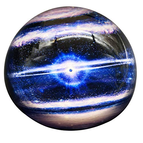 (Waltz&F Crystal Planet Paperweight Galss Globe Hemisphere Home Office Table Decoration)