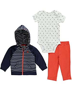 Carters Baby Girls Whale 3-Piece Cardigan Set