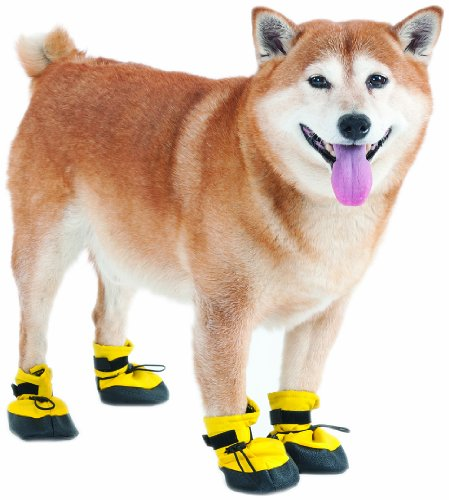 Fashion Pet Lookin Good Arctic Winter-Proof Boots for Dogs, Medium, Yellow