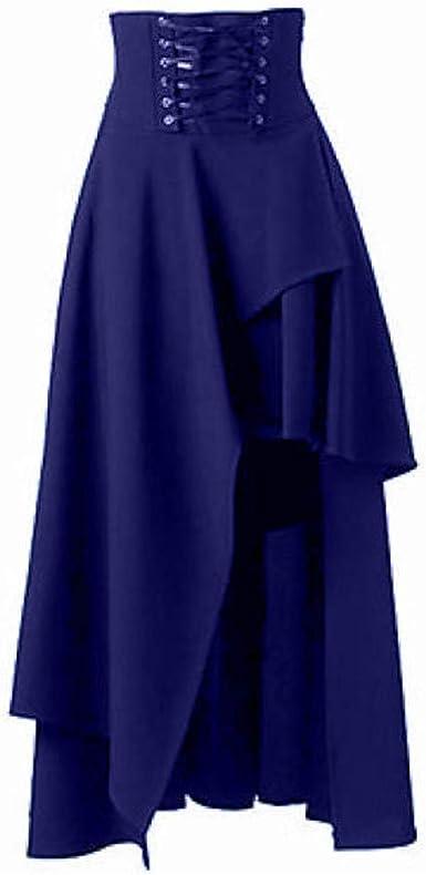 Vectry Faldas Mujer Moda Mujer Sólido Gótico Capas Punk Encaje ...