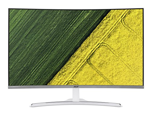 Acer 31.5-inch (80.01 cm) Curved Full HD LED Backlit Computer Monitor with Stereo Speakers – ED322Q (White)