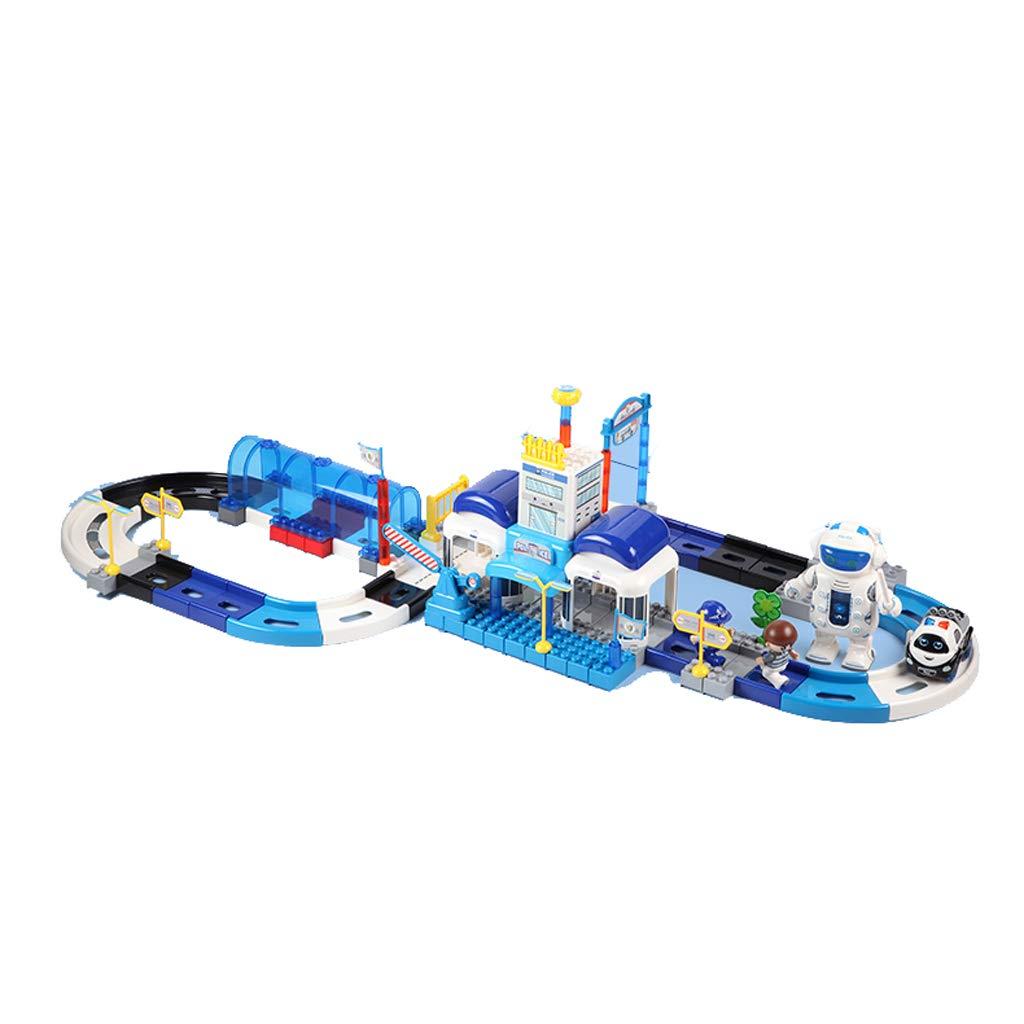 LINGLING-Verfolgen Track Set Kinderzug Elektroauto Puzzle Thema Szene 3-6 Jahre Altes Geschenk (größe   114pcs) B07MQRRTSV Klassische Puzzles Neue Produkte im Jahr 2019 | Deutsche Outlets