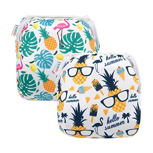 ALVABABY 2 Pieces of DYK57-58 Swim Diapers, Sunshine Pine
