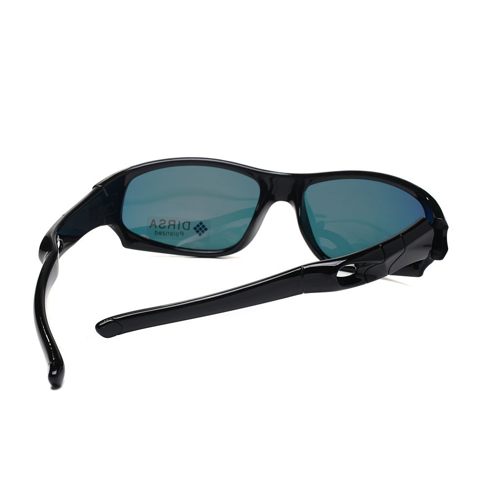 SK-S816 Sports Style Polarized Sunglasses Rubber Flexible Frame UV400 For Boys Girls black