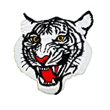 big minnie mouse iron on patches - White Tiger Face, Embroidered Iron on Patches