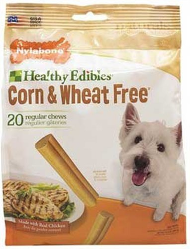 Nylabone Corn Free/Wheat Free Heart with Real Chicken, 20 Count Pouch, My Pet Supplies