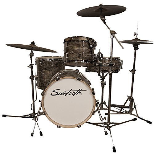 Sawtooth ST-COM-4PC-18-MARB Command Series 4-Piece Shell Pack with 18″ Bass Drum, Marble