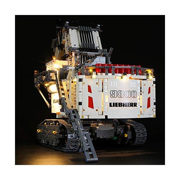 LIGHTAILING Set di Luci per (Technic Power Functions Escavatore Liebherr R 9800) Modello da Costruire - Kit Luce LED… 3 spesavip