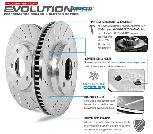 Power Stop K2798-36 Front & Rear Z36 Truck and Tow Brake Kit by Power Stop (Image #3)