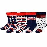 TeeHee-Mens-Novelty-Fashion-Americana-Cotton-Socks-4-Pair-Pack