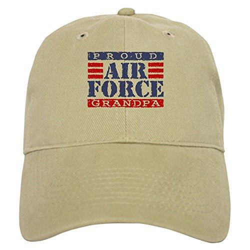 CafePress Proud Air Force Grandpa Baseball Cap with Adjustable Closure, Unique Printed Baseball Hat Khaki