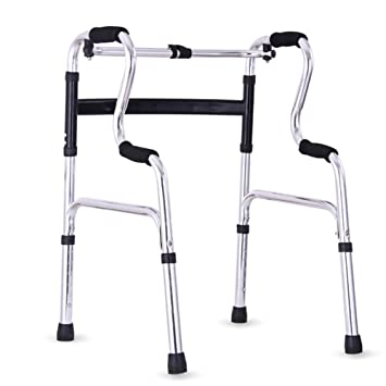 Ss Ancianos Walker Portátil Aluminio Andador De Aluminio Ajuste De ...
