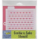 Crafter's Workshop Stencil 2 Pack, 10 Mil Food Safe Templates for Decorating and Baking, TCW5009 Stripes and TCW5011 Bright Stars
