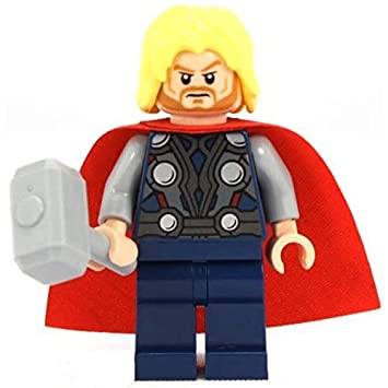 amazon com lego super heroes the avengers minifigure thor with