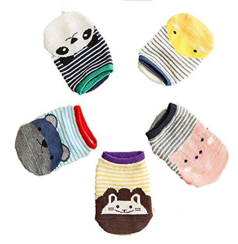 Sagton Cute Cartoon Bambini Neonate Maschi Antiscivolo Calze In Cotone A Basso Taglio Calzini Gialli