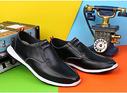 Charm Foot Hombres Comfort Daily Leisure Business Loafer Flats Negro