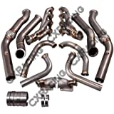 Twin Turbo Header Manifold Downpipe Kit For G-Body LS1 LS Motor Cutlass Grand National