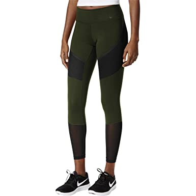 326484d7c4289 NIKE Womens Power Colorblock Compression Athletic Leggings Green M ...