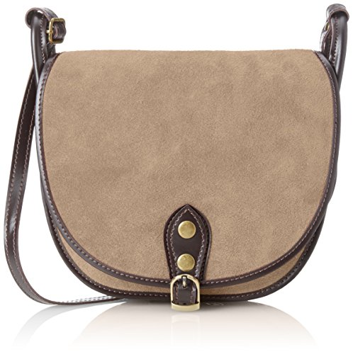 Clutch CTM Shoulder genuine Grey leather 26x23x8 Fango Cm in made Bag in Small Woman's Italy 1SFS5