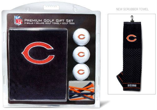 637556305206 - NFL Chicago Bears Embroidered Golf Towel, 3 Golf Ball, and Golf Tee Set carousel main 1