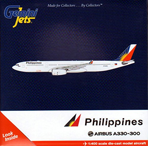 GeminiJets Philippines A330-300 Airplane Model (1:400 Scale)