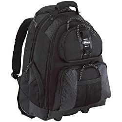 Targus Rolling Backpack Case For 15.4-inch Laptops, Black (Tsb700)