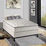 Continental Sleep Mattress,  10-Inch Fully Assembled Pillow Top  Orthopedic Mattress and Box Spring, Twin