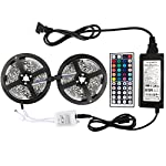 WenTop Led Strip Lights Kit Non-waterproof SMD 5050 32.8 Ft (10M) 300leds RGB 30leds/m with 44key Ir Controller and Power Supply for Trucks Boats Kicthen Bedroom and Sitting Room from FoxKonn