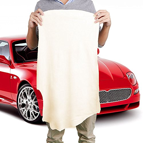 Bottone Natural Shammy Chamois Leather Car Cleaning Towels Drying Washing Cloth New (70x100CM)