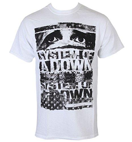 Männer Shirt System Of A Down - Torn - ROCK OFF - SOADTS01MW XXL