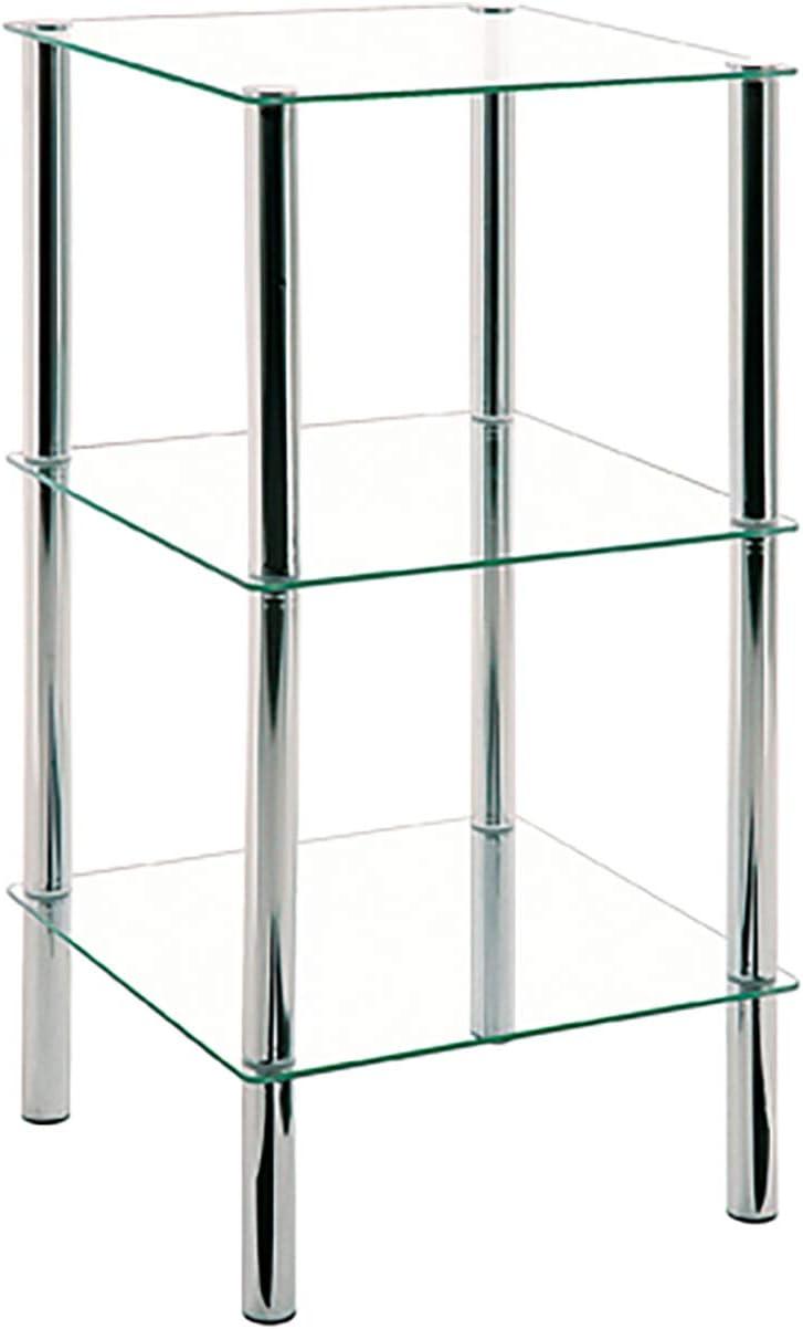 Haku Möbel 90239 Estantería Cromado / Mármol 39 x 39 x 107 cm: Amazon.es: Hogar