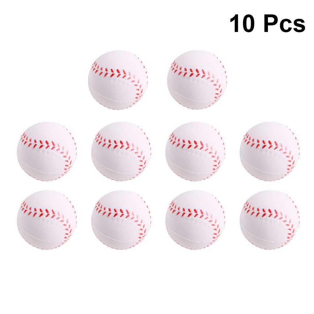 LIOOBO 10個 ミニスポーツボール スクイーズ 野球フォーム おもちゃ かわいいハンドピロー おもちゃ 携帯電話バッグ ストラップペンダント   B07QQRX9LN