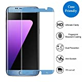 Samsung Galaxy S7 Edge Screen Protector,3H PremiumTempered Glass Screen Protector Film[3D Coverage][Case-Friendly][Not Easy to Drop Off]Thickness HD Crystal Clear with 9H Hardness for Galaxy S7 Edge