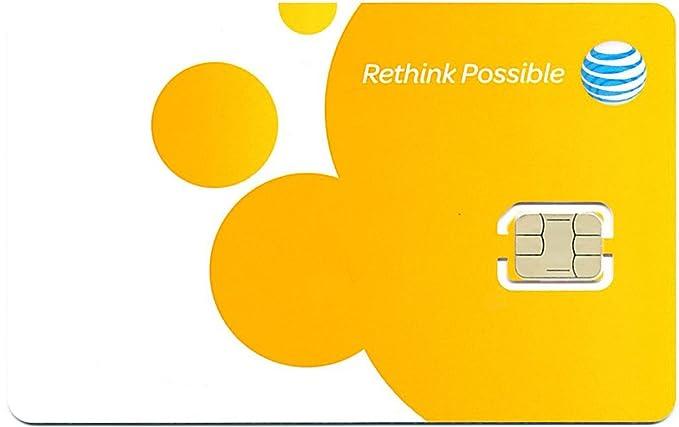 AT & T Estados Unidos Prepaid de tarjeta SIM (Nano de ...