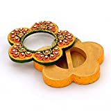 Little India Exclusive Kundan Meenakari Flower Container 248