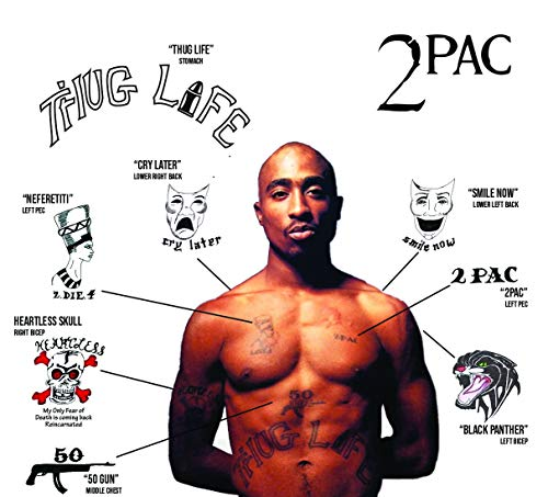 2Pac Temporary Tattoos | REALISTIC | Skin Safe | MADE IN THE USA -