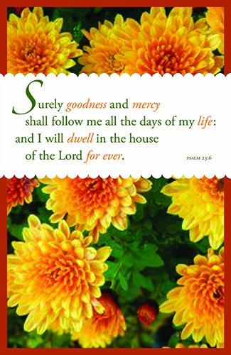(Bulletin-Goodness And Mercy (Psalm 23:6 KJV) (Pack)