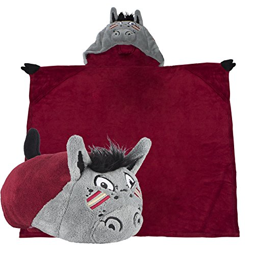 Comfy Critters Stuffed Animal Blanket - College Mascot, Florida State University 'Renegade' - Kids Huggable Pillow and Blanket Perfect for The Big Game, Tailgating, Pretend Play, and Much -