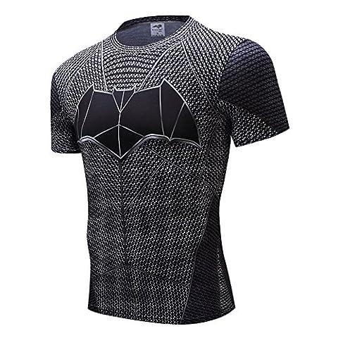 COOL Men's Compression Fitness Tee,Casual Bat Men Quick-dry Sports Shirt L (Hulk Workout Tank)