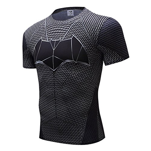 Batman Products : HOCOOL Men's Compression Fitness Tee,Casual Bat Men Quick-dry Sports Shirt