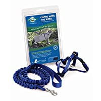 PetSafe Come With Me Kitty Arnés y Bungee Leash, Arnés para Gatos, Azul Royal /Azul Marino