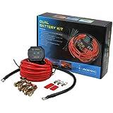 Aopec Original 12V Dual Battery Isolator Switch System Kit For ATV, UTV, 4WD, Rzr,RV, Car,Marine ETC