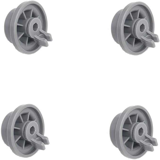 Xcivi Replacement 165314 Dishwasher Lower Rack Wheel for Bosch & Kenmore Dishwashers (4 Pack)
