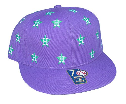American Needle Houston Astros DICE Fitted Hat Cap Size 7 1/2 - Purple