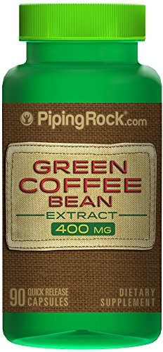 Piping Rock Green Coffee Bean Extract 50% Chlorogenic Acid 400 mg 90 Quick Release Capsules Dietary Supplement