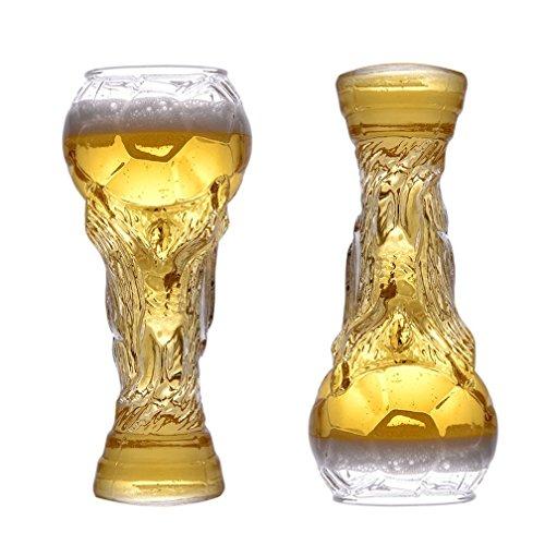 WAOBE Taza De Cerveza 2X Taza De Cristal Vasos De Vino Personalizados Cerveza Steins Copa del Mundo Copa De Titanio En Forma...