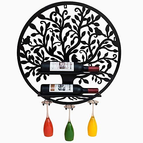 (KTYXDE Wine Rack Decoration Wall Hanging Wine Glass Rack Wall Wine Cabinet Hanging Wine Rack Wine Rack Goblet Rack Round 60x13x60cm Crafts Ornaments (Size : D15 X H17.5CM))