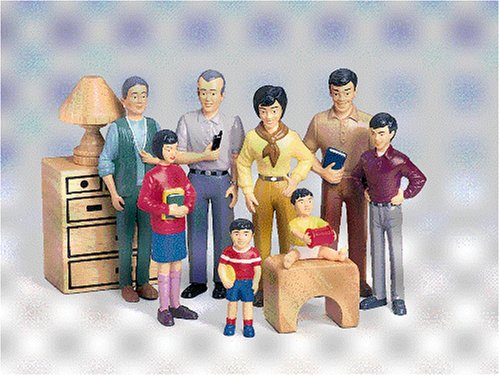 Asian Play Dolls (Pretend Play Family - Asian Family - Grandpa to Baby)