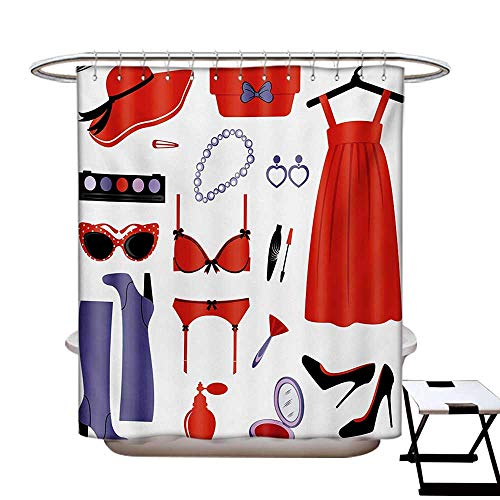 Heels and Dresses Shower Curtains Mildew Resistant Glamor