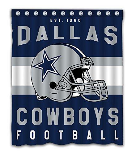Sonaby Custom Dallas Cowboys Waterproof Fabric Shower Curtain For Bathroom Decoration (60x72 Inches)